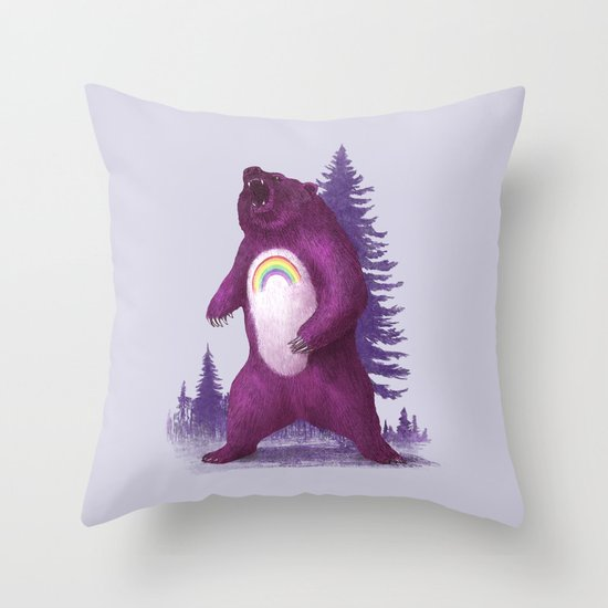 Scare Bear Throw Pillow