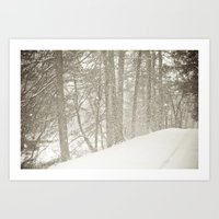 Stopping By A Snowy Wood… Art Print