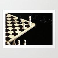 Plastic Chess Set-Plasti… Art Print