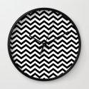Keep Calm And Dream On (Zig Zag Chevron Black Lodge Floor, Twin Peaks) Wall Clock