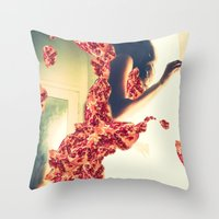 Lady Pomegranate Throw Pillow