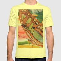 Golden Butterfly Mens Fitted Tee Lemon SMALL