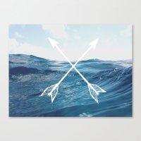 Deep Sea Arrows Canvas Print