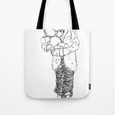 Holding the Bunny Tote Bag