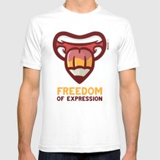 Freedom SMALL Mens Fitted Tee White