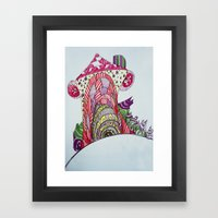 Funny House Framed Art Print