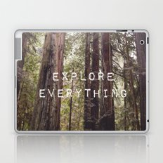 EXPLORE EVERYTHING in the REDWOOD FOREST  Laptop & iPad Skin