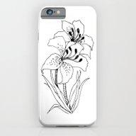 Lillies - Ink Serie iPhone 6 Slim Case