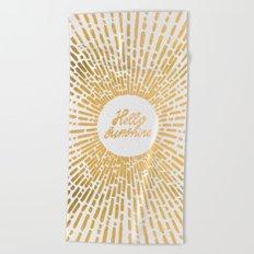 Hello Sunshine Gold Beach Towel