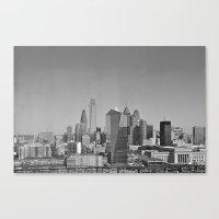 Black And White Philadel… Canvas Print