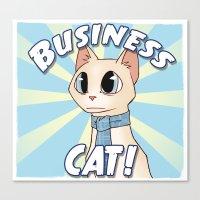 Business Cat! Canvas Print