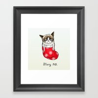 Grumpy Christmas Framed Art Print