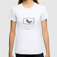 Crow Womens Fitted Tee Ash Grey SMALL