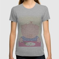 Not pea's again Womens Fitted Tee Athletic Grey SMALL