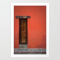 La Puerta Roja Art Print