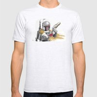 Boba Fett Mens Fitted Tee Ash Grey SMALL
