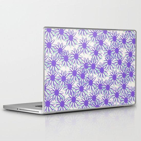 Purple Daisies Pattern Laptop & iPad Skin
