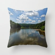 Song of the Delaware River Throw Pillow
