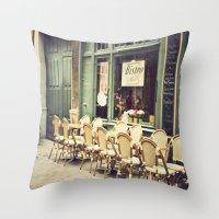 Le Petit Café Throw Pillow