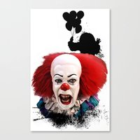 Pennywise The Clown: Mon… Canvas Print