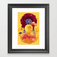 La Lumiere (Yellow) Framed Art Print
