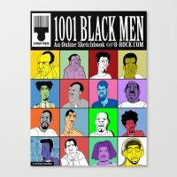 1001 Black Men: Alternat… Canvas Print