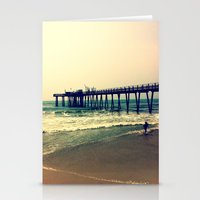 Shore At Dusk Stationery Cards