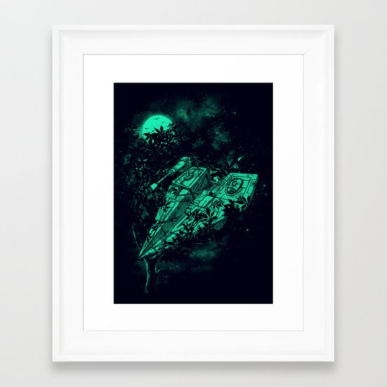 Emergency Landing Framed Art Print