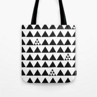 Black geometric print Tote Bag