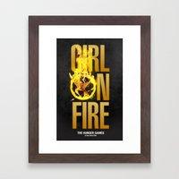 Hunger Games - Girl on Fire Framed Art Print