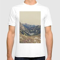 Mountain Flowers Mens Fitted Tee White SMALL