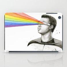 Geordi Rainbow Watercolor Portrait iPad Case