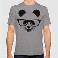 Panda Head Too Mens Fitted Tee Athletic Grey SMALL