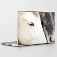 horses Laptop & iPad Skins featuring Horses by MarianaLage