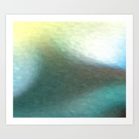 Deep Water Abstract Art Print