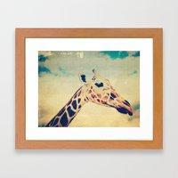Vintage Giraffe  Framed Art Print