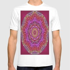 Kaleidoscope SMALL White Mens Fitted Tee