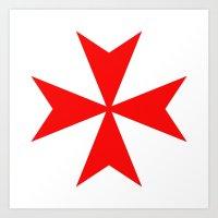 Malta Knights Cross Art Print