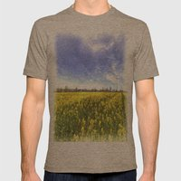 Yellow Fields Of Summer Art Mens Fitted Tee Tri-Coffee SMALL