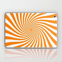 Swirl (Orange/White) Laptop & iPad Skin