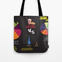 Star Wars Vs Star Trek A… Tote Bag