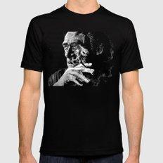 Charles Bukowski - Black… Mens Fitted Tee Black SMALL