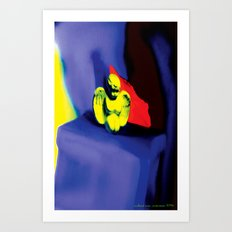 Lamentation in Blue, Yellow, and Orange Art Print
