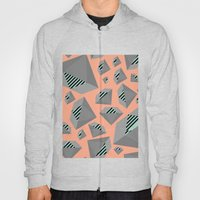 Mint and Gray Diamond on Peach Hoody