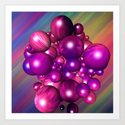 Glossy Bubble mix Art Print
