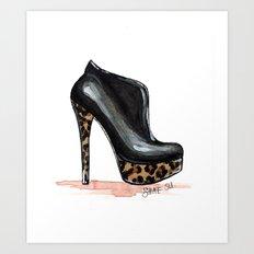 Leopard Heel Art Print