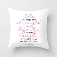 The beauty of a woman Throw Pillow