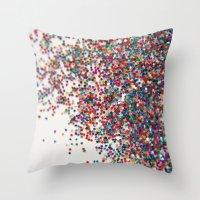 Fun II (NOT REAL GLITTER… Throw Pillow
