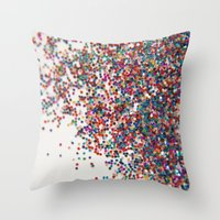 Fun II (NOT REAL GLITTER… Throw Pillow