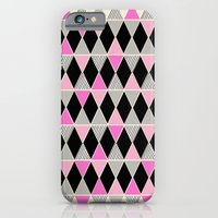 Triangles and lines (pink & grey) iPhone 6 Slim Case